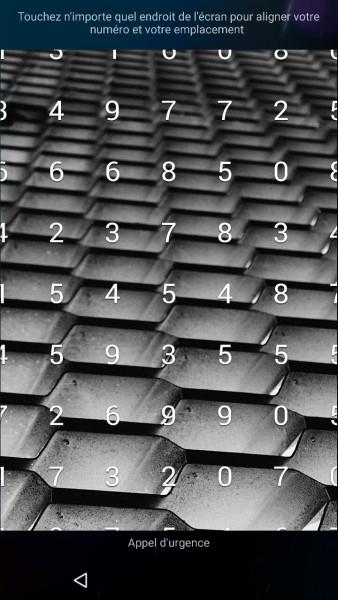 Blackberry Priv écran de verrouillage
