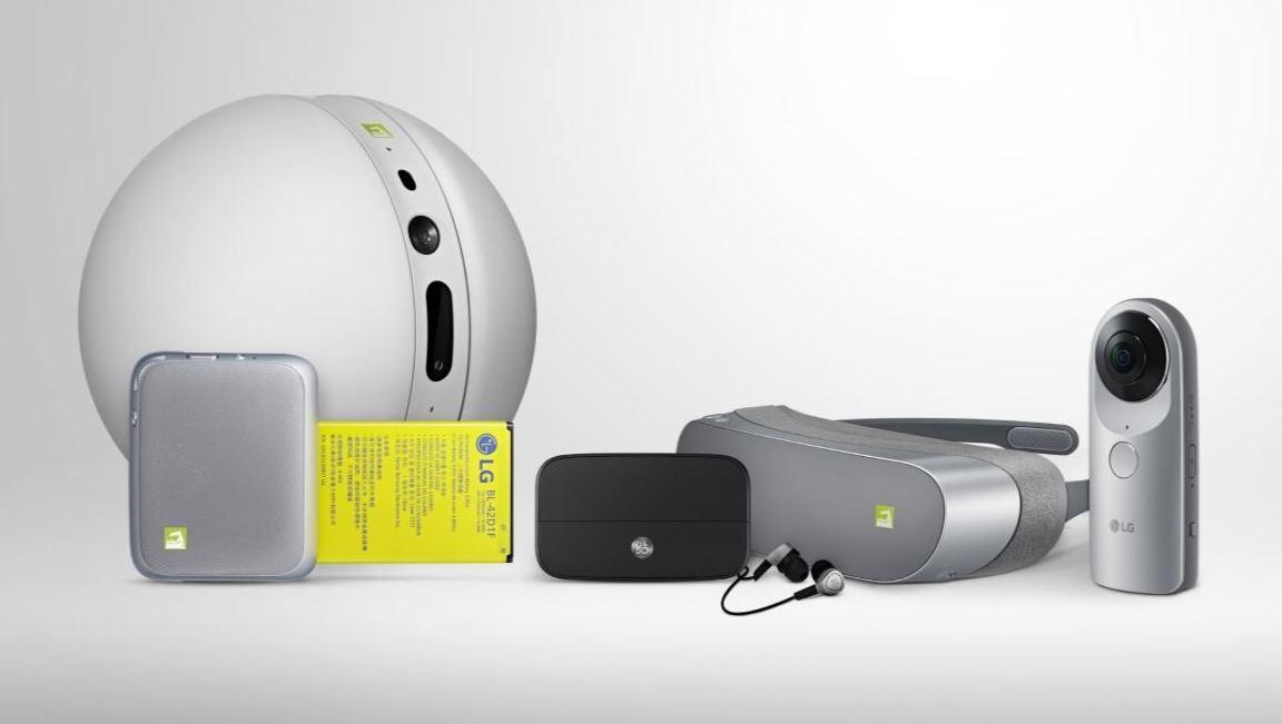 les differents accessoires du LG G5