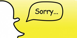 "Snapchat ""Sorry..."""