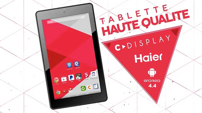test haier cdiscount cdisplay tablette EB