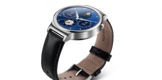 Huawei Watch bracelet cuir noir