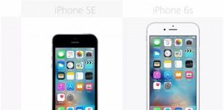 iPhone SE et iPhone 6S