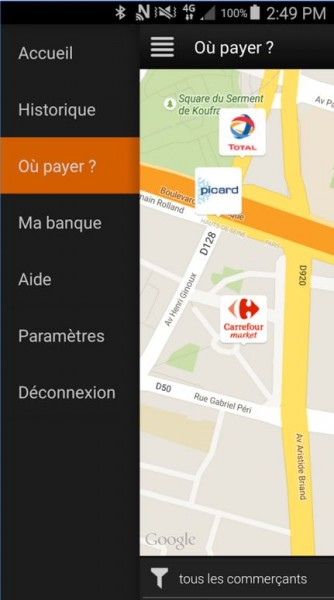 map orange cash