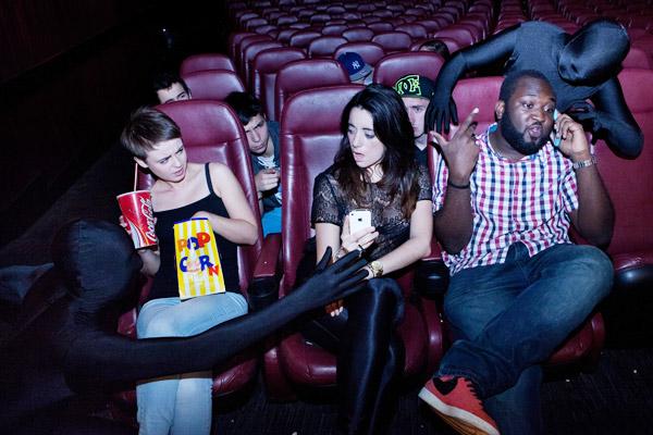 Cinéma accro smartphone