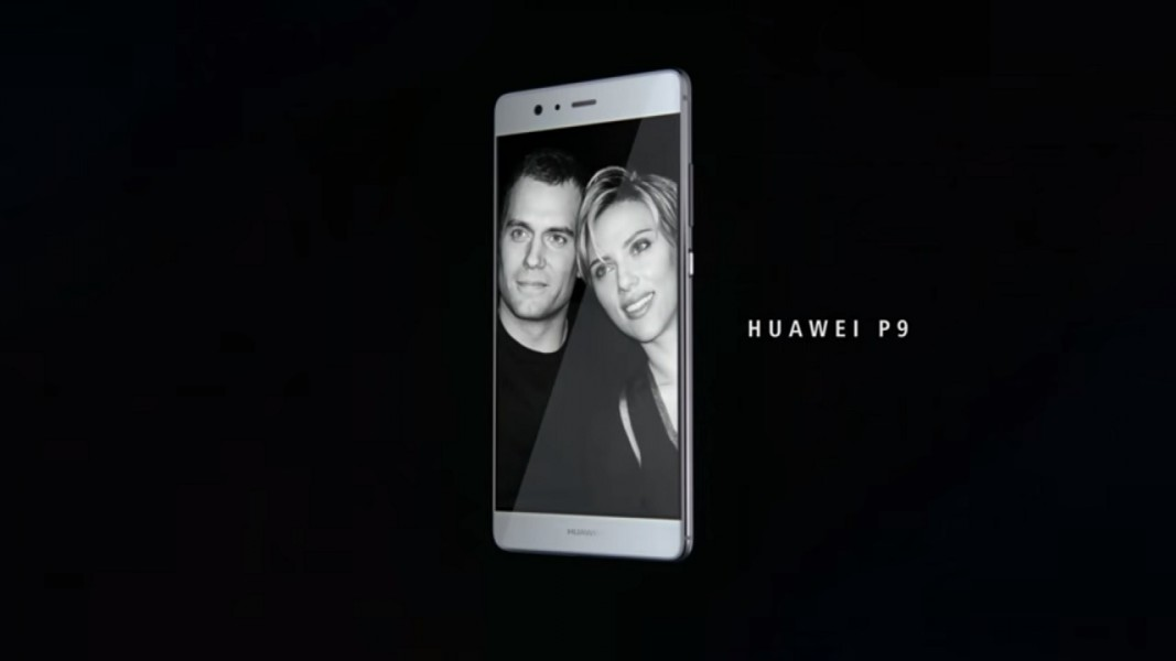 Huawei P9 fond noir