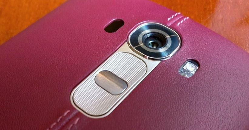 LG G4 cuir rouge