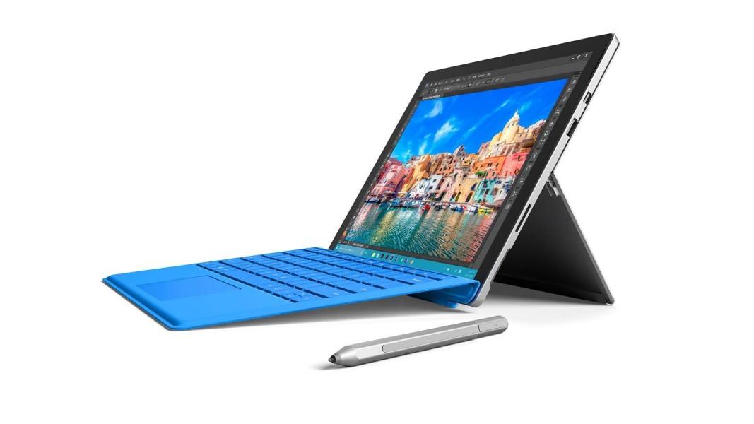 Microsoft Surface Pro 4 m3 fond blanc