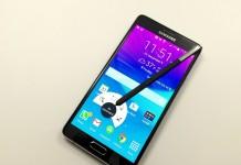 Samsung Galaxy Note 4 fond blanc