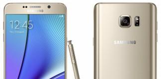 Samsung Galaxy Note 5 Fond blanc