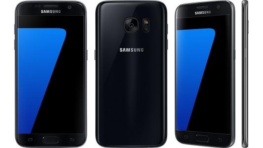 Samsung Galaxy S7 profil dos fond blanc