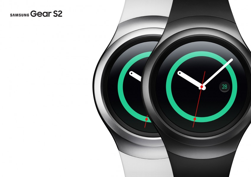 Samsung Gear S2 fond blanc