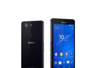 Sony Xperia Z3 Compact fond blanc
