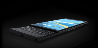 Blackberry Priv fond noir