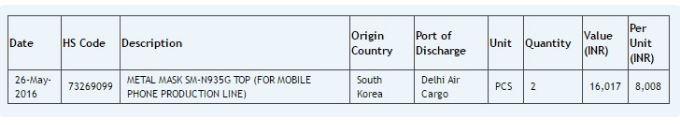 Listing Samsung Galaxy Note 7 Edge
