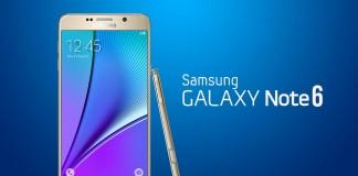 Samsung Galaxy Note 6 Fond bleu