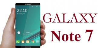 Samsung Galaxy Note 7 concept
