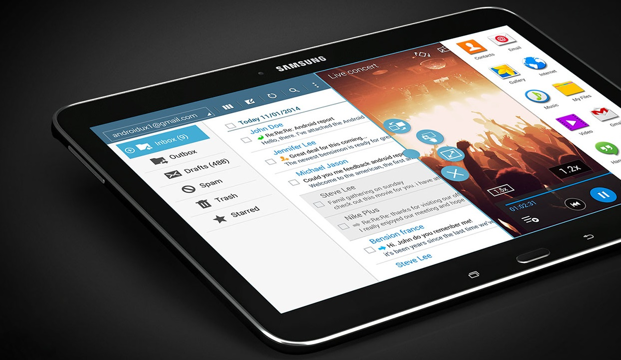 samsung galaxy tab 4 advanced une tablette 10 1 pouces. Black Bedroom Furniture Sets. Home Design Ideas