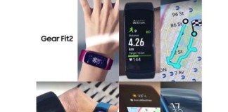 Samsung Gear Fit 2 fond blanc