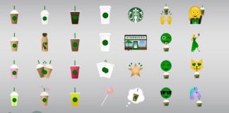 clavier emojis starbucks