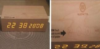 Réveil BlueSYNC TYM Bluetooth haut-parleur stéréo sans fil en bois design de GOgroove