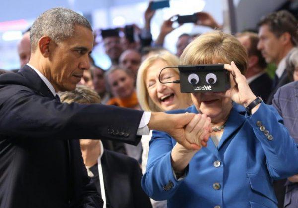 Obama Merkel réalité virtuelle