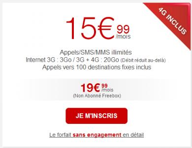 Free : 50 Go d'internet � 19,99�