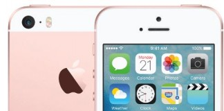 iPhone SE Or Rose fond blanc