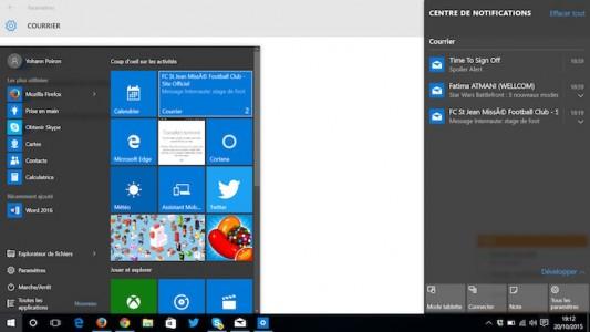 Un centre de notifications tout neuf � venir pour Windows 10