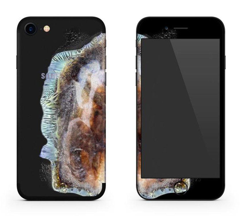 une coque pour iphone 7 qui copie le note 7 et son explosion meilleur mobile. Black Bedroom Furniture Sets. Home Design Ideas