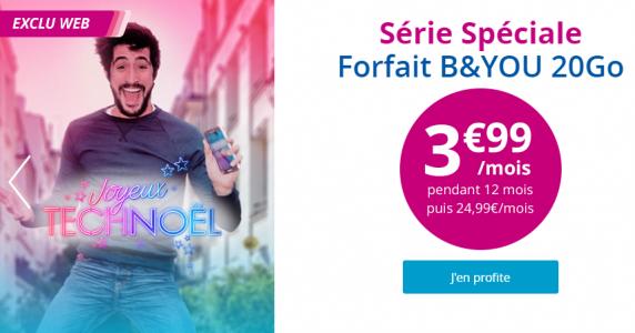 Prolongation de l'offre B&You à 3,99 euros avec 20 Go de Data !