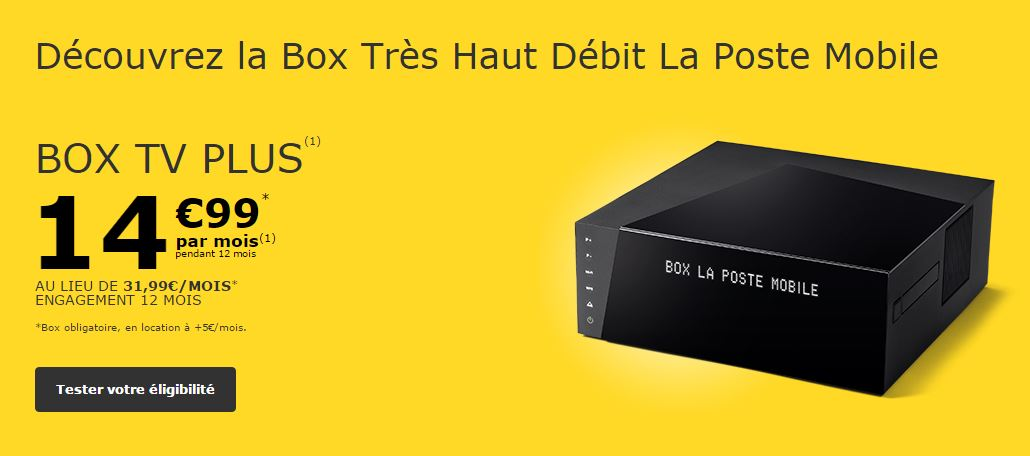 Box TV Plus La Poste Mobile