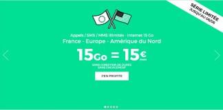 RED by SFR forfait illimité 15Go de roaming
