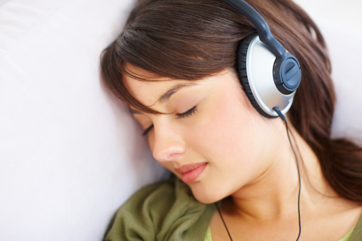 Adolescent musique casque