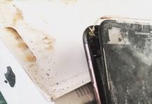 iPhone 7 brûlé