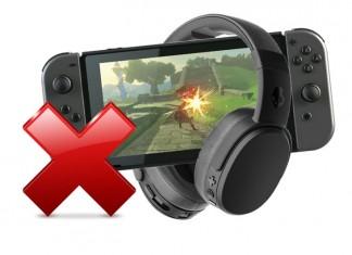 Pas de casque Bluetooth pour la Switch
