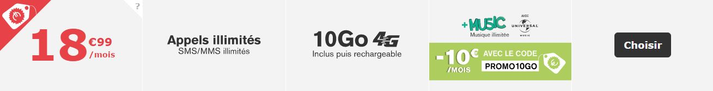 Forfait La Poste Mobile 10Go Musique illimitée
