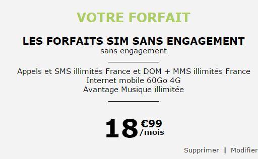 Forfait La Poste Mobile 60Go Musique illimitée