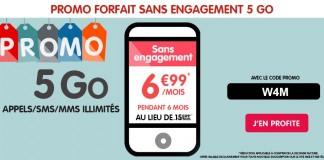 Promo NRJ Mobile forfait sans engagement 5Go