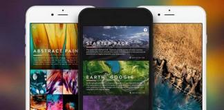 Vellum, application de fonds d'écran sur iOS