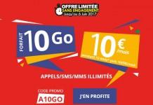 Forfait Auchan Telecom 10Go 10 euros