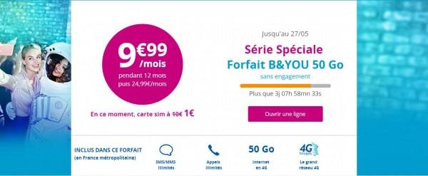 Derniers jours pour profiter de la Série Spéciale B&You 50Go à 9.99 euros