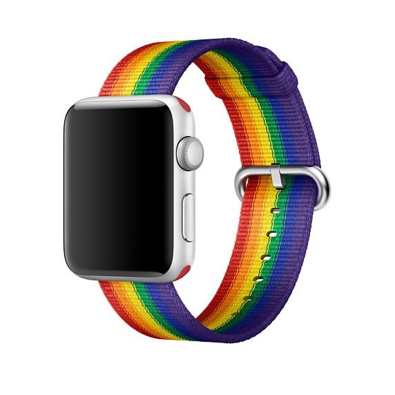 avec ce bracelet pour apple watch apple participe au financement des associations lgbtq. Black Bedroom Furniture Sets. Home Design Ideas