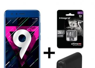 Pack Honor 9 Microsoft Batterie Externe 9000 mAh Carte MicroSD 32 Go