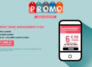 Promo NRJ Mobile forfait WOOT 5Go