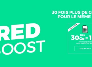 RED forfait boost 30Go 10 euros