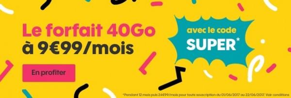 Sosh : le forfait 40 Go est à 9.99 € au lieu de 24,99 € et 15 euros de remise sur tous les forfaits Sosh mobile + Livebox