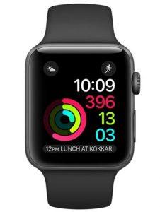 Apple watch 2 alu gris sideral 38mm bracelet sport noir 360 1 226x300 - Le top5 des montres connectées