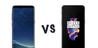 Comparatif Samsung Galaxy S8 vs OnePlus 5