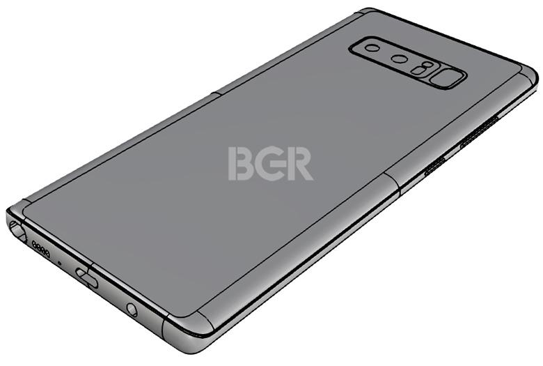 Galaxy note 8 cad - La nouvelle fuite du Samsung Galaxy Note 8 correspond à des modèles précédemment affichés
