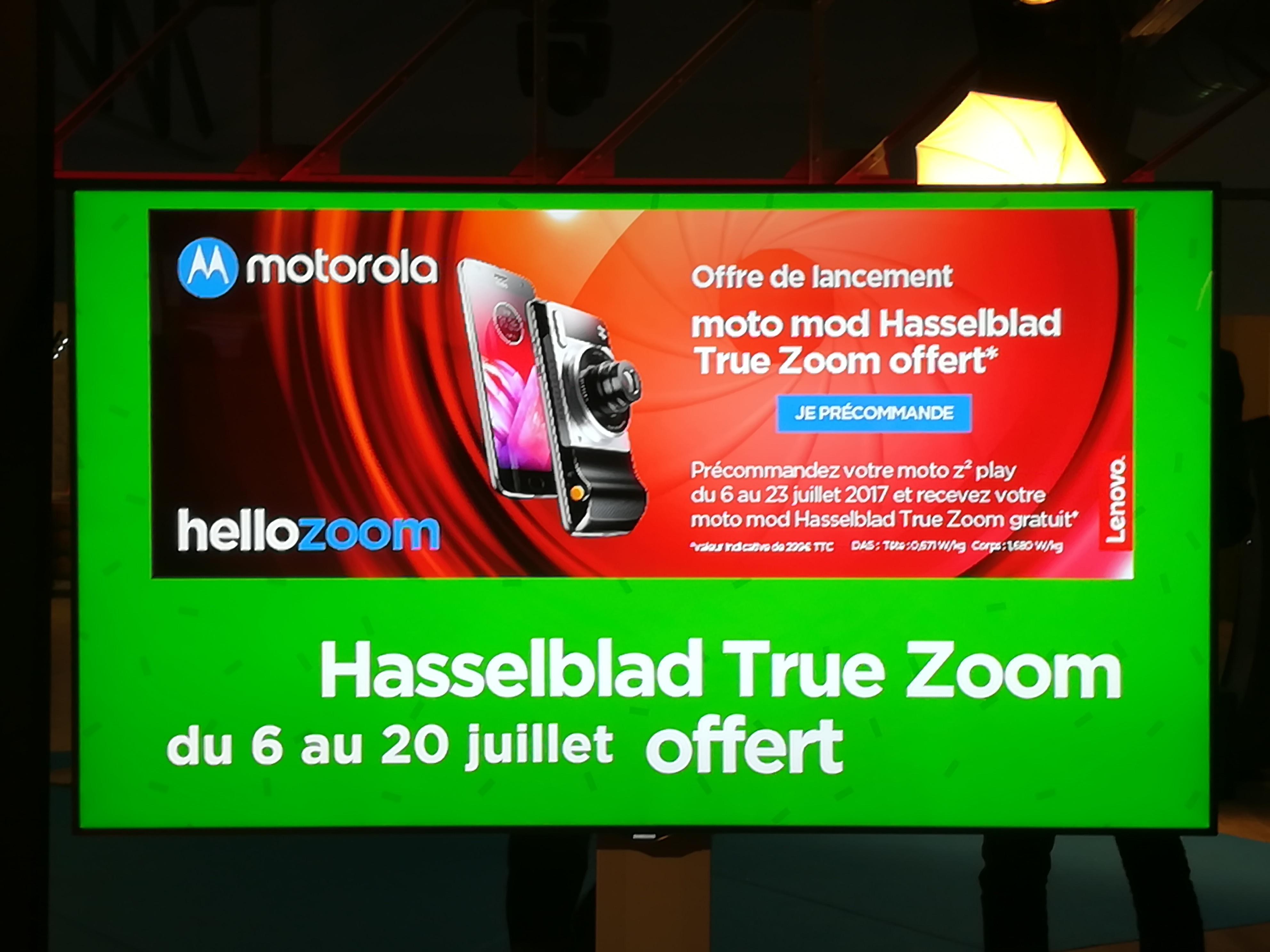 Offre de lancement Moto Z2 Play